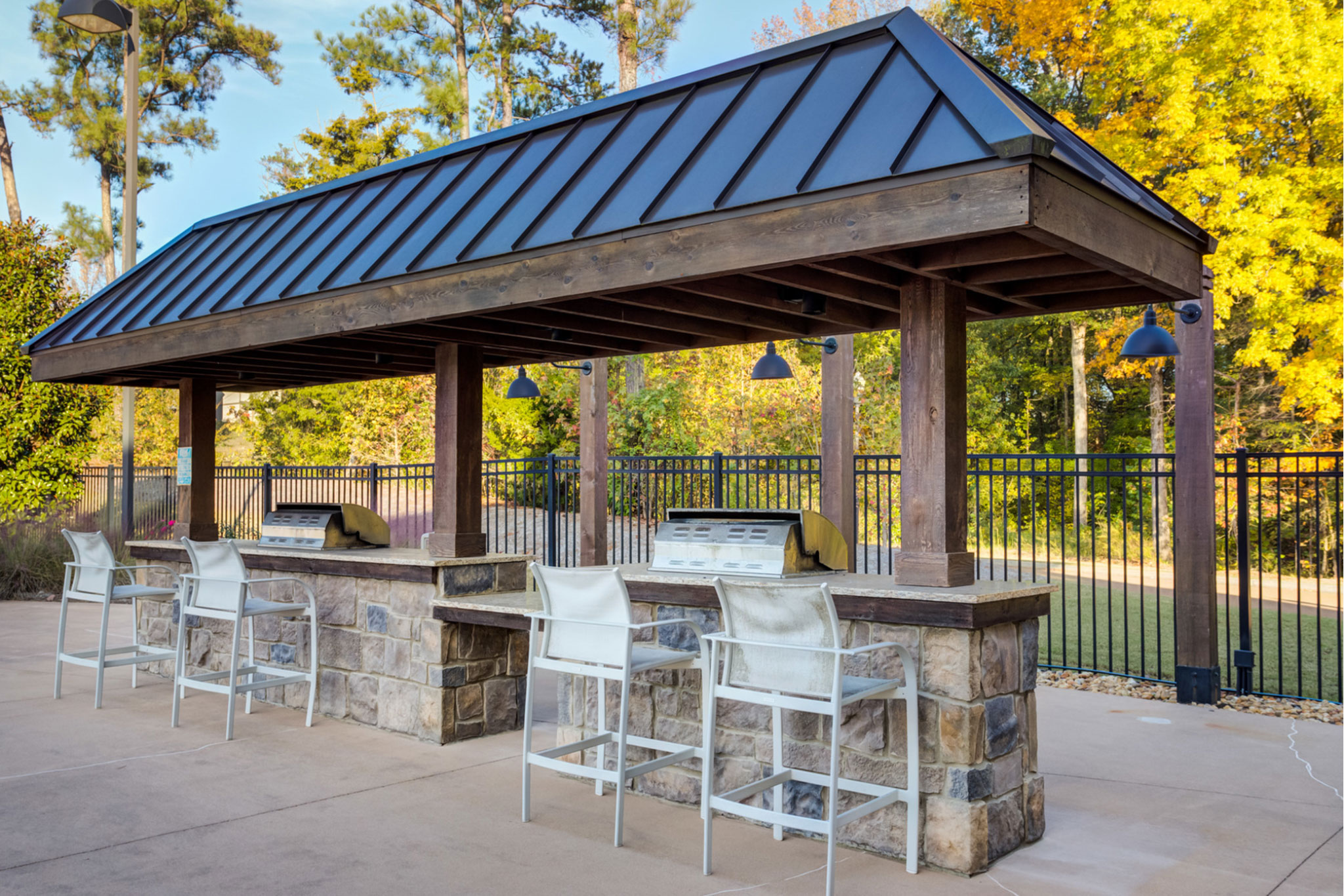 College Town Oxford Outdoor Grilling Area