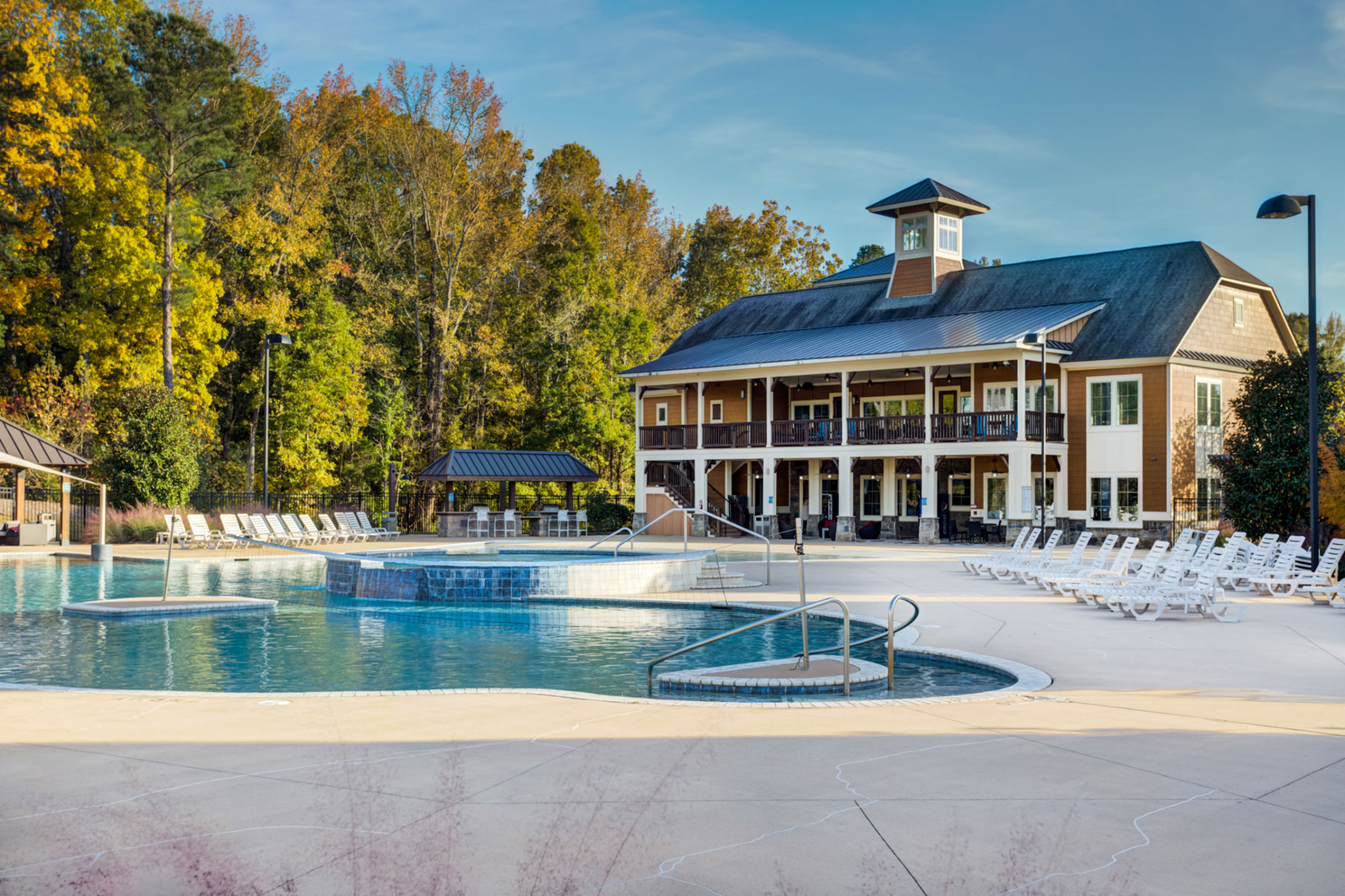 College Town Oxford Outdoor Sun Deck and Pool