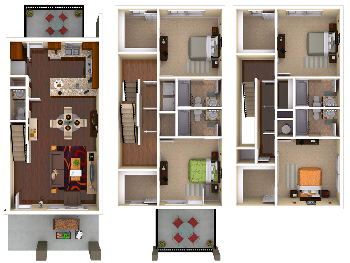 Milledge 4 BR 4.5 BATH Floor Plan