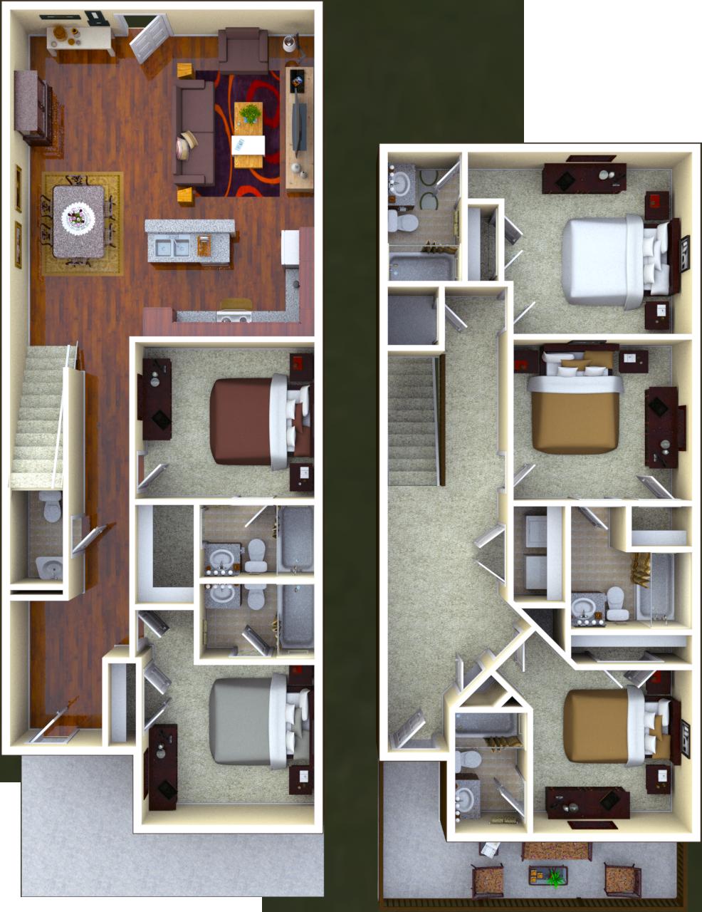 Rutherford 5 BR 5.5 BATH Floor Plan
