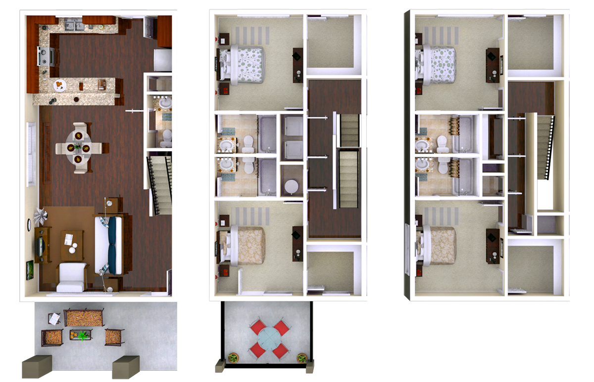 Stafford 4BR 4.5 BATH Floor Plan