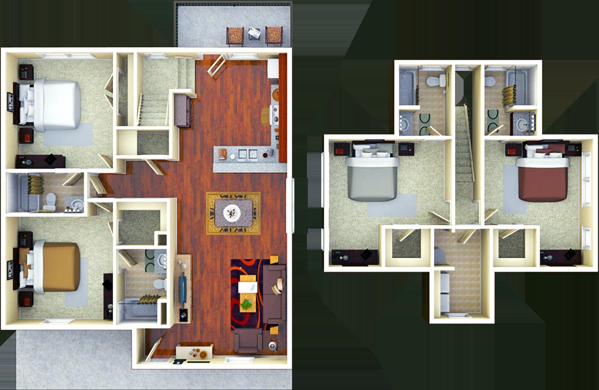 Thornberry 4BR 4 BATH Floor Plan